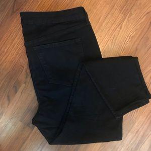 Old Navy   Rockstar Mid-rise black skinny jeans